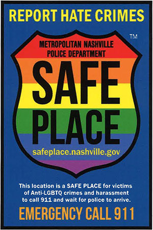 MNPS Safe Place Decal Glendale United Methodist Church Nashville TN UMC