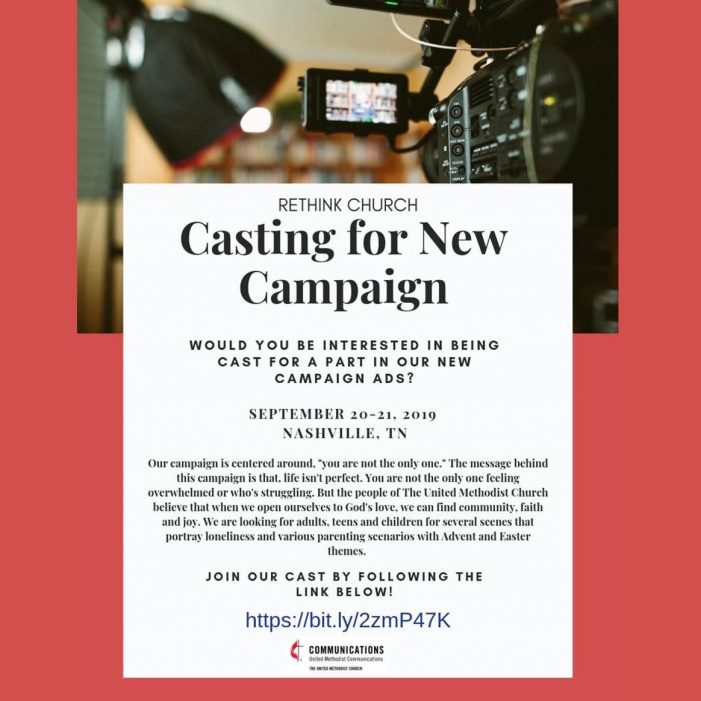 Rethink Church National Advertising Campaign Shoot Glendale United Methodist Church