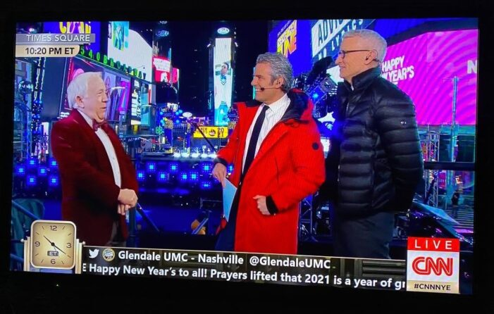Glendale United Methodist Church Tweet Featured on CNN New Year's Eve Celebration