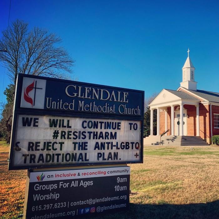 #ResistHarm - Glendale United Methodist Church Sign in Nashville TN