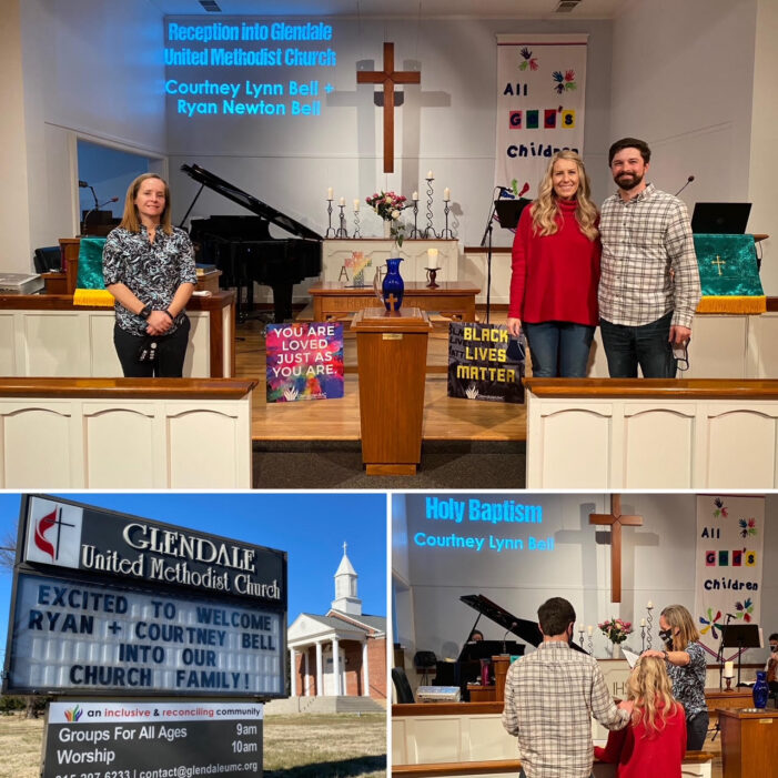 Ryan and Courtney Bell Join Glendale United Methodist Church Nashville TN